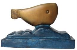 FISCH  Bronze patiniert, farblich individuelle Varianten
