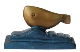 FISCH,  Bronze patiniert, farblich individuelle Varianten