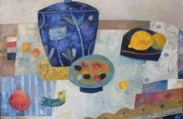 Mit blauer Vase